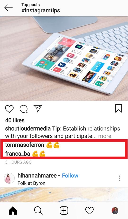 avoid block comment spam instagram